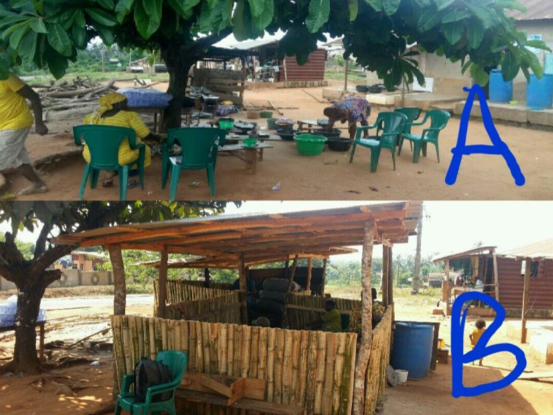 Anuoluwapo Canteen transformation-Before and After