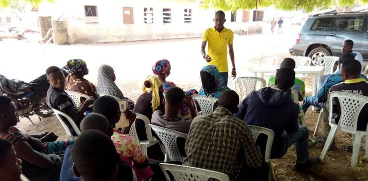 FAYODE program coordinator with Kwara Youth Farmers
